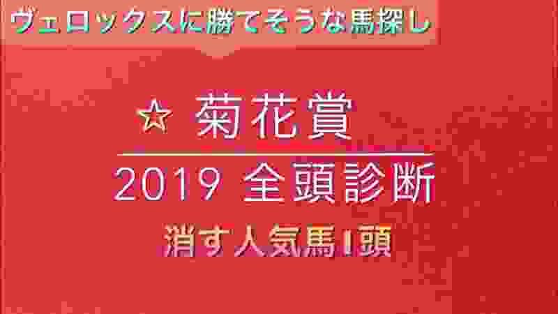 【競馬予想】 菊花賞 2019 事前予想 全頭診断