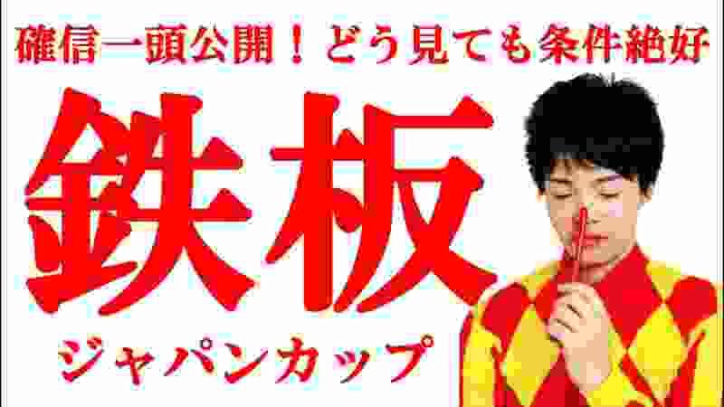 【競馬予想】これを見れば必勝!マジでジャパンカップ鉄板!