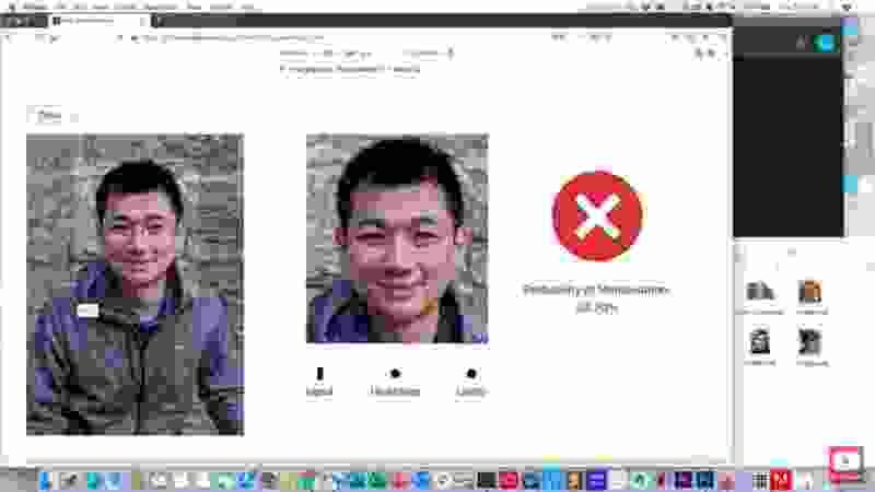 その中で、写真に写った顔が加工されたものかどうかを検知し、それを元に戻す「ProjectAboutFace」デモを行った