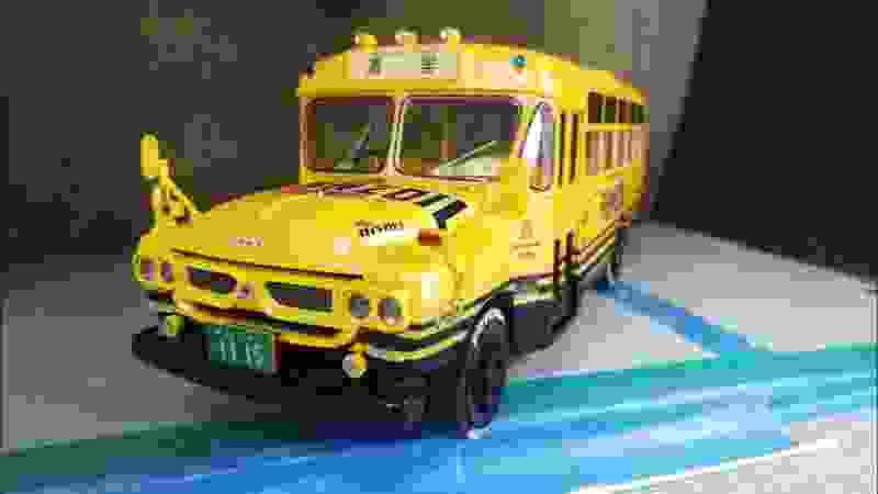 #コムちゃんプラモデルを作る。ISUZU Bonnet Bus #11 完成